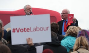 Jeremy Corbyn (left) with the Labour MP Ronnie Campbell during a general election campaign event in Blyth in June, 2017