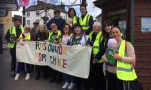 Yes campaigners in Ballaghaderreen, Roscommon