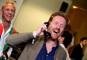 Damian Lewis during the 15th BGC annual charity day at Canary Wharf in London, in commemoration of BGC's 658 colleagues and the 61 Eurobrokers employees lost on 9/11.