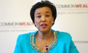 Patricia Scotland at the meeting of Commonwealth trade ministers at Marlborough House, Pall Mall, London