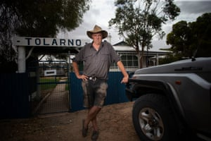 Rob McBride on his station Tolarno south of Menindee