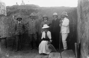 A group visiting the excavations at Meroë
