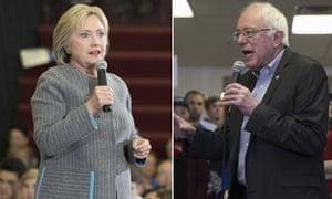 Hilary Clinton and Bernie Sanders