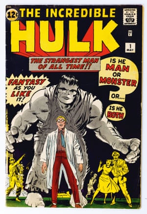 The Incredible hulk No. 1. Cover; pencils, Jack Kirby; inks, attributed Jack Kirby. May 1962.