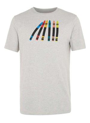 marl t-shirt with crayon motif