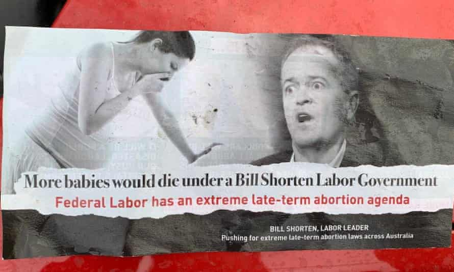 A Cherish Life anti-abortion flyer.