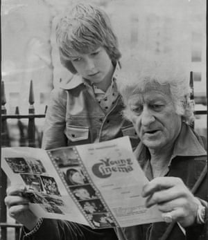 Sean with hjs father, Jon Pertwee.