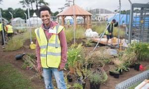 Josi, one of the volunteers