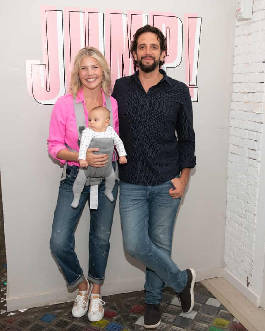 Nick Cordero with Amanda Kloots and son Elvis in August 2019.