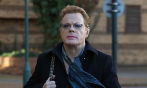 Izzard arrives at West London magistrates court in London for the trial of Jamie Penny