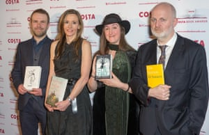 Costa award winners Andrew Michael Hurley (first novel: The Loney), Andrea Wulf (biography: The Invention of Nature, Frances Hardinge and Don Paterson (poetry: 40 Sonnets).
