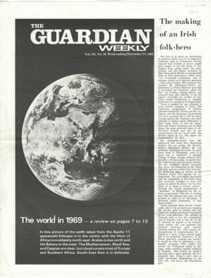 The cover of Guardian Weekly's end of year edition 1969.