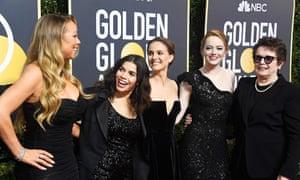 Mariah Carey, America Ferrera, Natalie Portman, Emma Stone and former tennis player Billie Jean King.