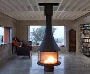 Log on: the wood-burning stove in the living area.