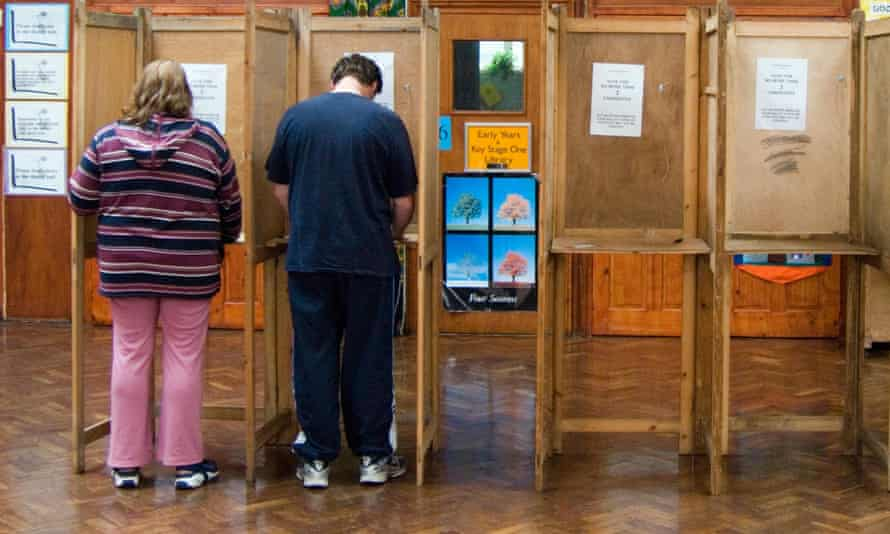 Voters in London. Most non-UK EU nationals cannot vote in UK general elections.
