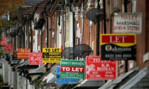 """Row of houses with lots of """"To let"""" signs"""
