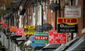 to let signs in a street in Selly Oak, Birmingham