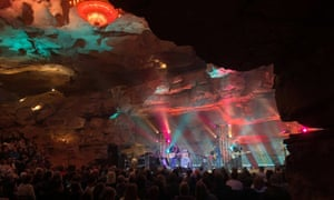 Band playing at Cumberland Caverns Live, Tennessee, US.