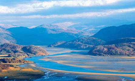 Breathtaking views at the River Mawddach estuary, near Barmouth in Wales.