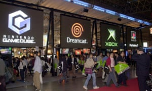 The Tokyo Game Show, 2001, shows the Dreamcast among its rivals. The odds did not look good