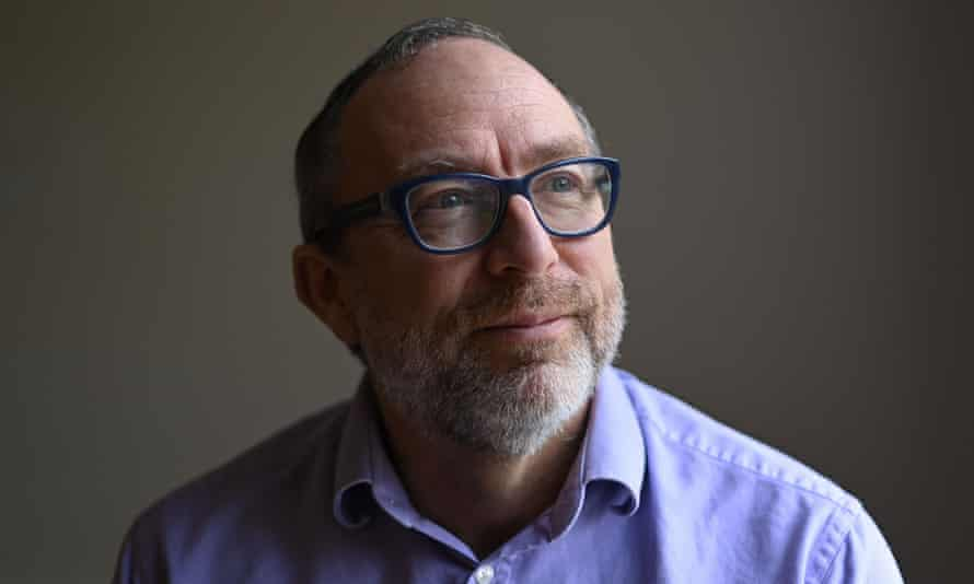 Wikipedia co-founder Jimmy Wales poses for a portrait in London
