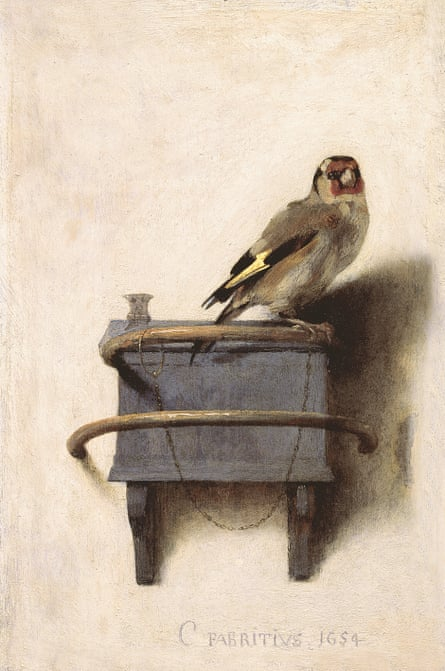 The Goldfinch, 1654, by Carel Fabritius.
