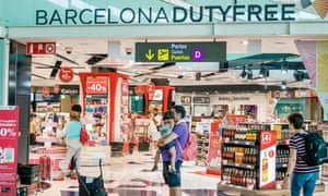 Barcelona airport duty-free shop