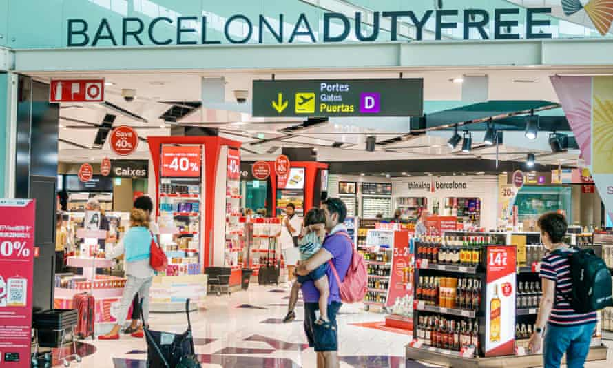 Barcelona airport duty-free shop