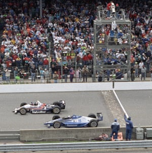 Al Unser Jr. by less than a car length ahead of Scott Goodyear to be the greatest in history