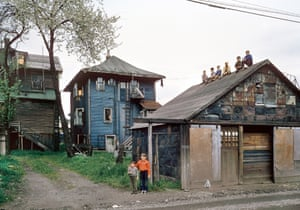 Boys on Shed, 1962  by Fred Herzog