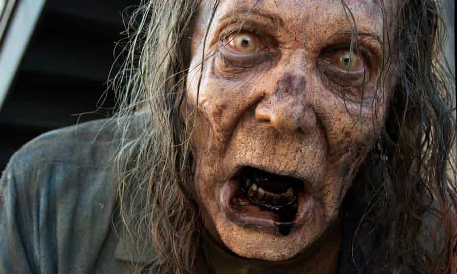 Greg Nicotero as a walker in The Walking Dead.