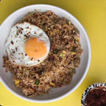 Anissa Helou: 'traditionally nasi goreng is made simply with spring onions and fresh chillies and served for breakfast with a fried egg'.