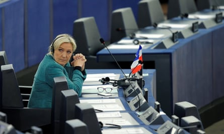 Marine Le Pen, leader of the Eurosceptic Front National, at the European parliament in Strasbourg.