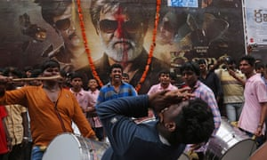 Latest film from superstar actor Rajinikanth sends India into a frenzy