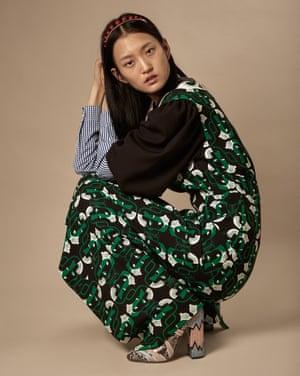 Wangy wears Miu Miu