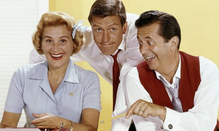 From left, Rose Marie, Dick Van Dyke and Morey Amsterdam in The Dick Van Dyke Show, 1961-66.
