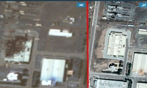 The image ordered by @IranIntl appears to show half a building destroyed at the Natanz facility