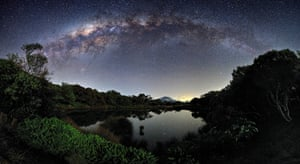 The Milky Way seen from the island of Réunion in the Indian Ocean, one of the highly commended entries in the Royal Observatory's astronomy photographer of the year competition. Photograph: Luc Perrot.