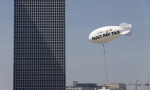 Last week, a blimp with 'Google must pay tax' written across it floated over the Tel Aviv skyline.