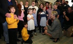 Tanya Plibersek meets with rainbow families on Tuesday before a press conference where Bill Shorten announced Labor would not be supporting the marriage equality plebiscite legislation.