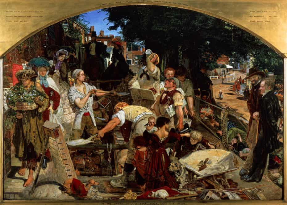 Work, 1852-1863, by Ford Madox Brown (1821-1893), oil on canvas