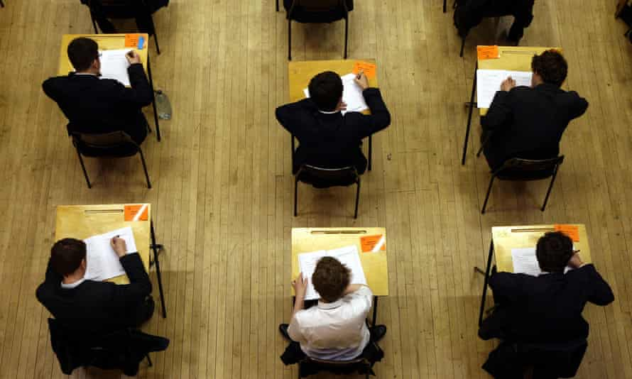 Pupils sitting an exam. The Dispatches programme describes how the use of exam results, league tables and performance indicators have increased the pressure on students, teachers and institutions to succeed.
