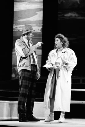 1989 Philip Jackson (Lance), Carole Hayman (Vera) in Icecream by Caryl Churchill @ Royal Court. Directed by Max Stafford-Clark. (Opened 11-04-1989