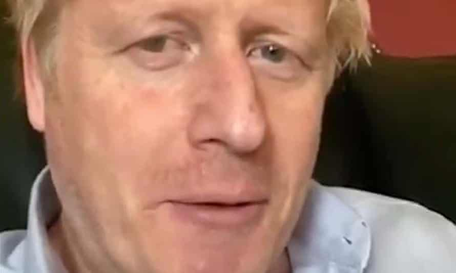 A screengrab taken from Boris Johnson's Twitter account of his latest message on the coronavirus outbreak.