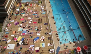 Sunbathers during a heatwave in London