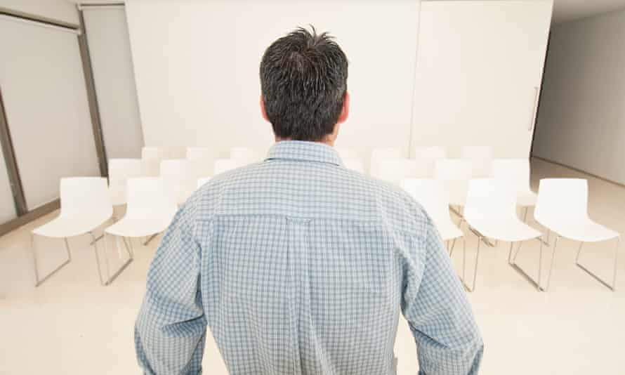 trainer looking at empty classroomBGXNEF trainer looking at empty classroom