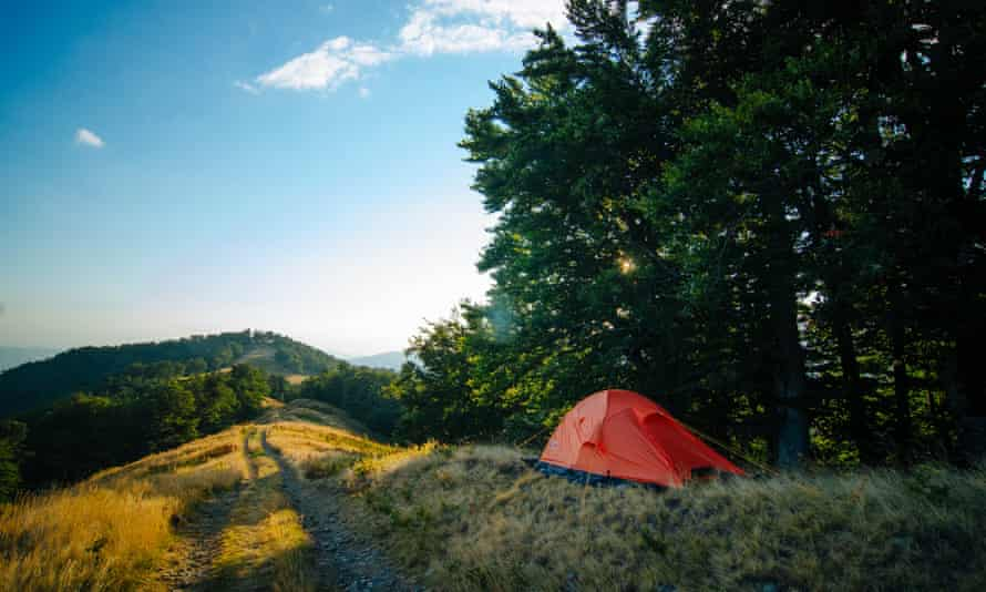 Wild camping on Trotternish on the Isle of Skye, Scotland