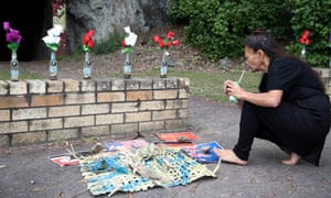 A small memorial in Whakatane for the 22 people who died on White Island on 9 December 2019.