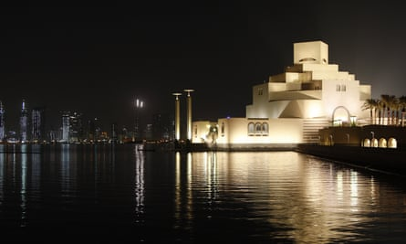 IM Pei's Museum of Islamic Art at Doha, Qatar, completed in 2008.