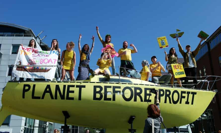 Extinction Rebellion environmental activists in Leeds